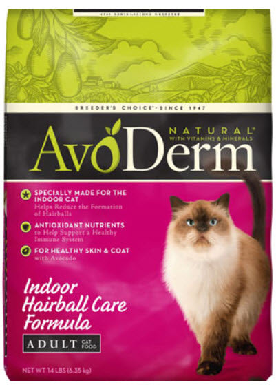 Avoderm Indoor Hairball Care Dry Cat Food