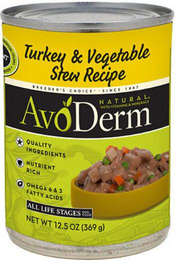 AvoDerm Natural Turkey and Vegetable Stew Canned Dog Food
