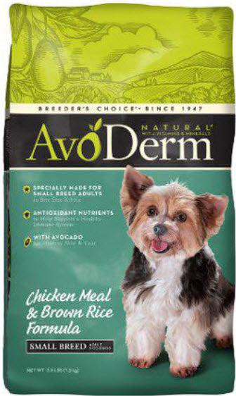 AvoDerm Natural Small Breed Adult Formula Dry Dog Food