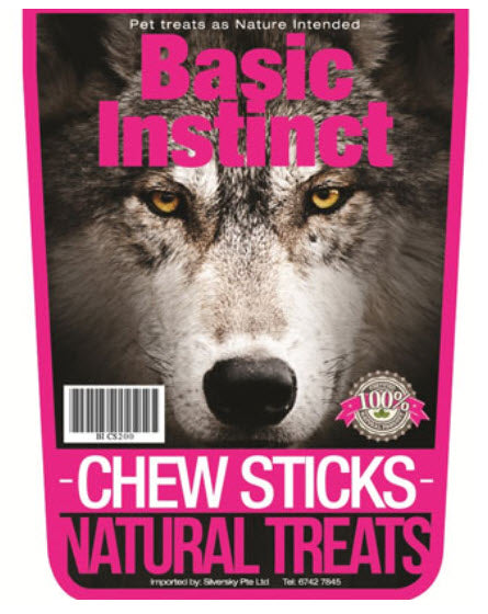 Basic Instinct Chew Sticks Natural Dog Treats