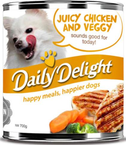 Daily Delight Juicy Chicken and Veggy Can Dog Food