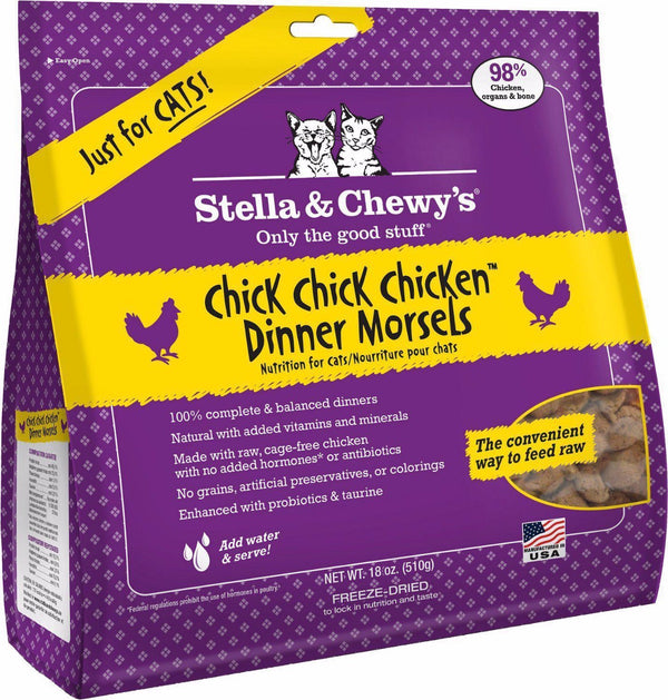 Stella & Chewy's Chick, Chick, Chicken Freeze Dried Dinner Cat Food