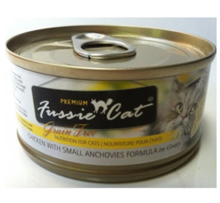 Fussie Cat Premium Grain Free Chicken with Small Anchovies Canned Cat Food