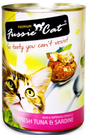 Fussie Cat Fresh Tuna and Sardine Canned Cat Food