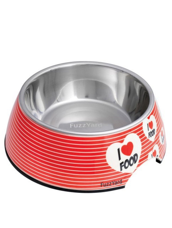 FuzzYard Easy (I Love Food) Feeder Pet Bowls