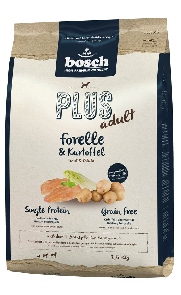 Bosch High Premium Plus Adult Trout & Potato Grain Free Dog Food
