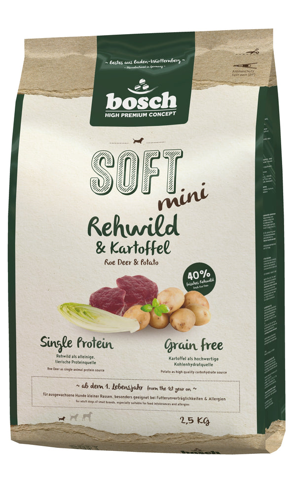 Bosch High Premium Soft Adult Mini Roe Deer & Potato Dog Food