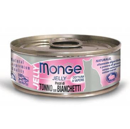 Monge Jelly Yellowfin Tuna with Whitebait Canned Food for Cats