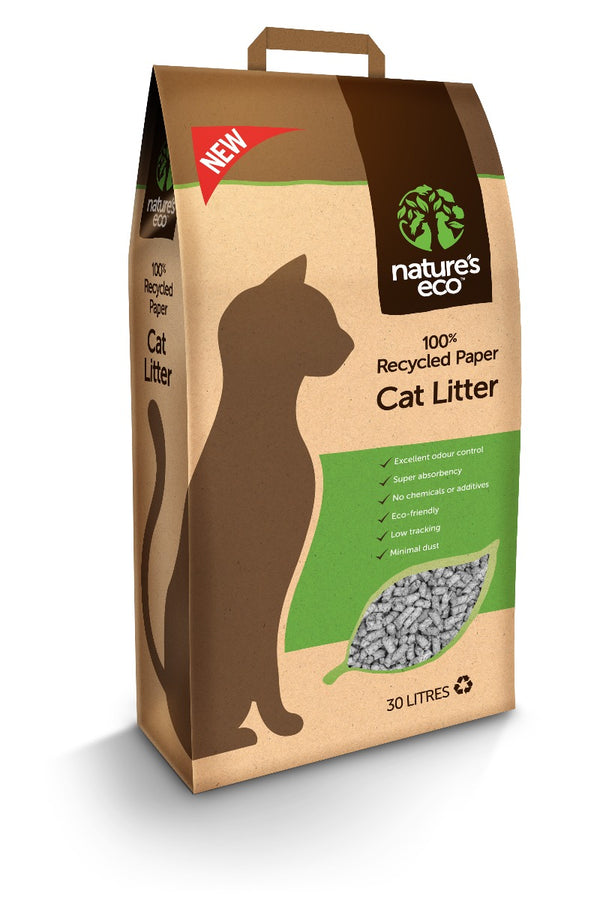 Nature's Eco Recycled Paper Cat Litter
