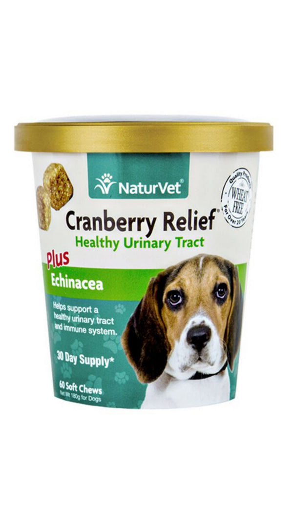 NaturVet Cranberry Relief Plus Echinacea Soft Chew Cup for Dogs