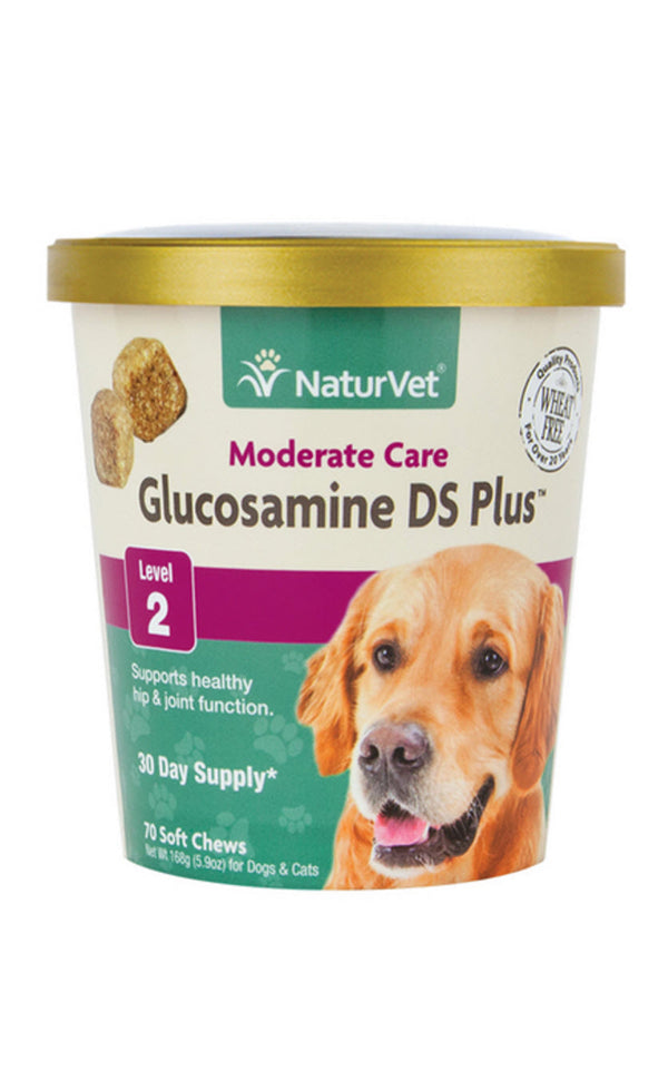 NaturVet Glucosamine DS Plus Level 2 Soft Chew Cup for Dogs Cats