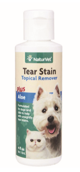 Naturvet Tear Stain Remover (Topical) for Dogs Cats