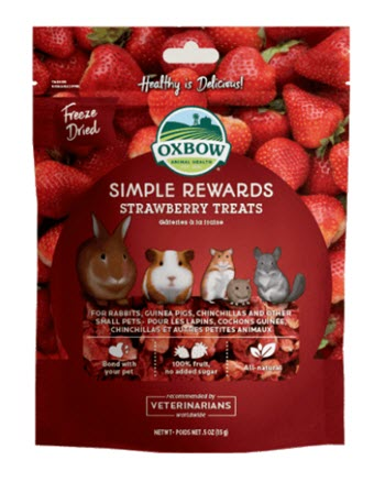 Oxbow Simple Rewards Strawberry Treats For Small Animals