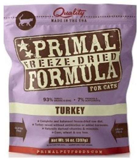 Primal Feline Freeze Dried Turkey Formula for Cats