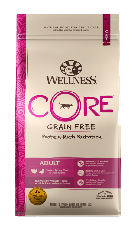 Wellness Core Grain Free Turkey and Duck Meal Dry Cat Food