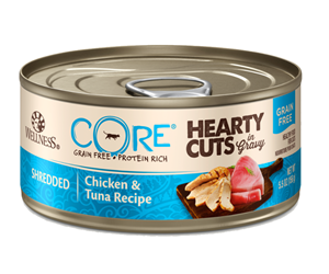 Wellness Core Hearty Cuts Shredded Chicken & Tuna Canned Cat Food