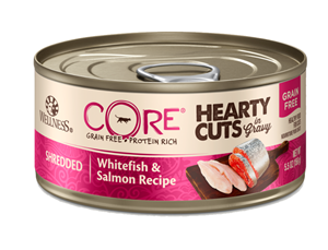 Wellness Core Hearty Cuts Shredded Whitefish & Salmon Canned Cat Food