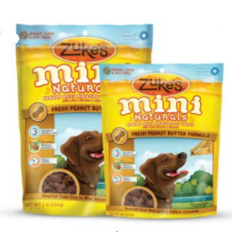 Zukes Moist Miniature Peanut Butter Dog Treats