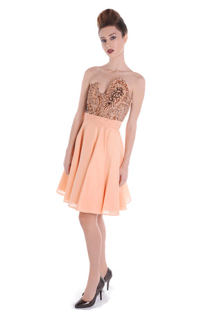 00132 SPACE VIP orange dress