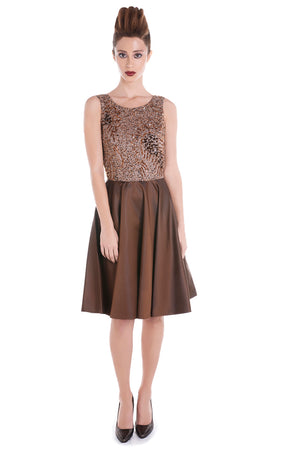 00126 SPACE VIP brown dress