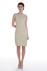 00122 MARIE ANTOINETTE green diagonals dress