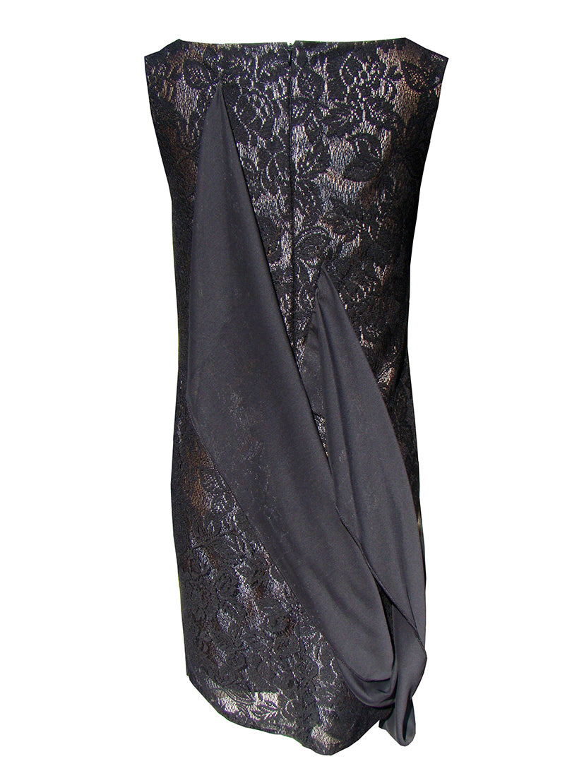 00108 ILLUMINATED HEARTS black knitted lace dress