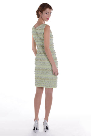 00123 MARIE ANTOINETTE mixed greens dress