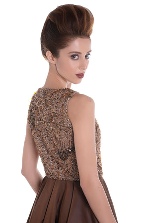 00128 SPACE VIP brown dress
