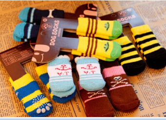 Soft Cotton Anti-slip Knit Weave Warm Sock - Waggingtails Warehouse