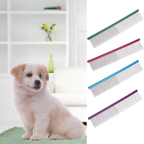 Stainless Steel Stripe Grooming Comb - Waggingtails Warehouse