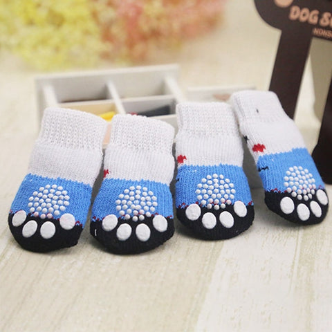 Cute Warm Cotton Anti-Slip Socks for Dogs