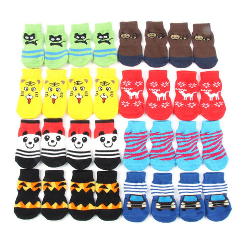 Small Lovely Soft Warm Knitted Socks for Dogs For S-XL