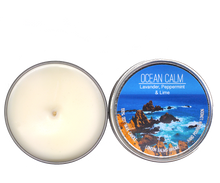 Load image into Gallery viewer, Ocean Calm -Lavender, Peppermint & Lime Soy Candles