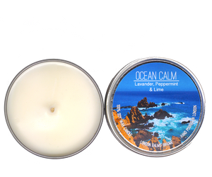 Ocean Calm -Lavender, Peppermint & Lime Soy Candles