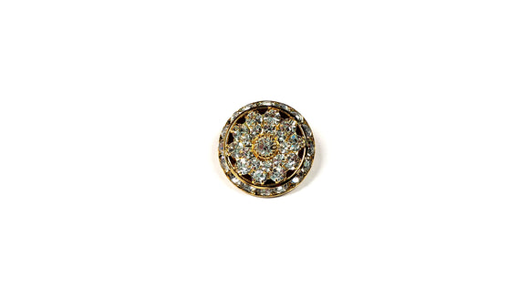 Gold Rhinestone Shank Buttons