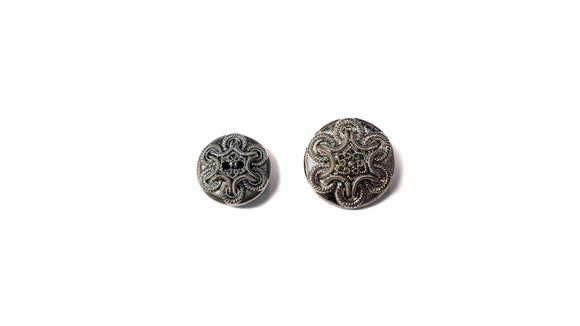 Silver Glass 2-Hole/Shank Buttons