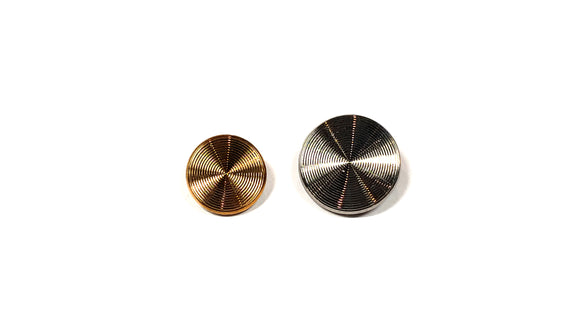 Silver/Bronze Glass Shank Buttons