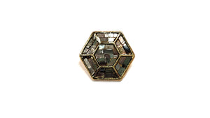 Hexagon Bronze Shank Buttons