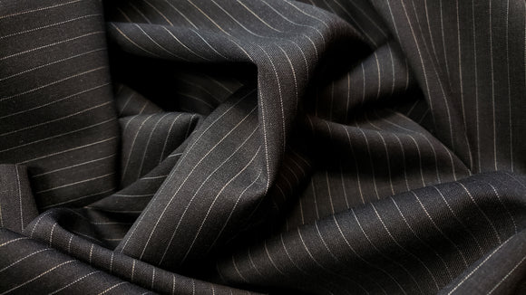 Pinstripe Wool Suiting