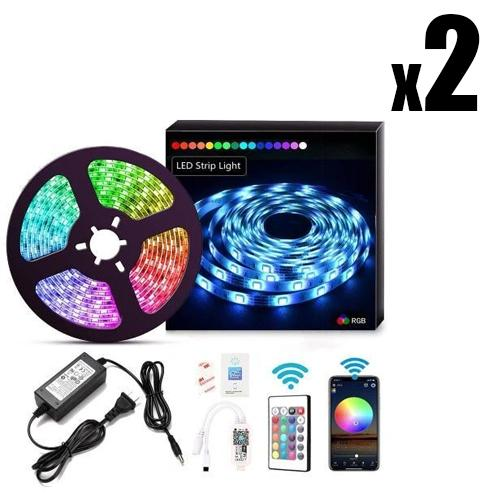 2 x LED LIGHT STRIPS Xeno Designs 5M Full Set Remote Activated