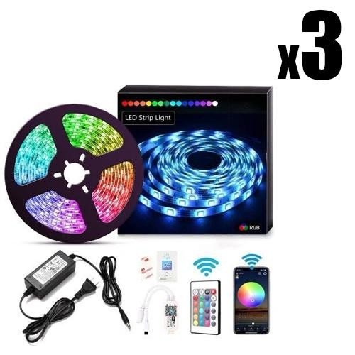 3 x LED LIGHT STRIPS Xeno Designs 5M Full Set Remote Activated