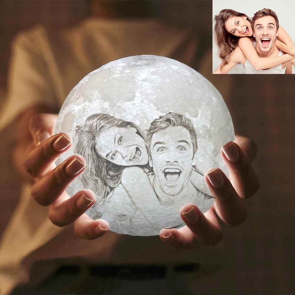 Custom 3D Photo Moon Lamp Xeno Designs