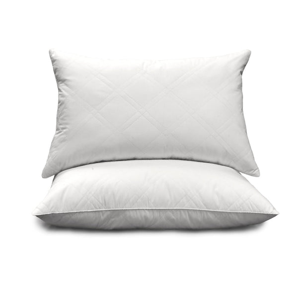 Royal Majesty 2-pk. 233-Thread Count Goose Feather & Down Quilted Egyptian Cotton Jumbo Pillows