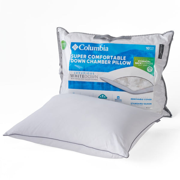 Columbia Soft / Medium Back & Stomach Sleeper Down Chamber Pillow