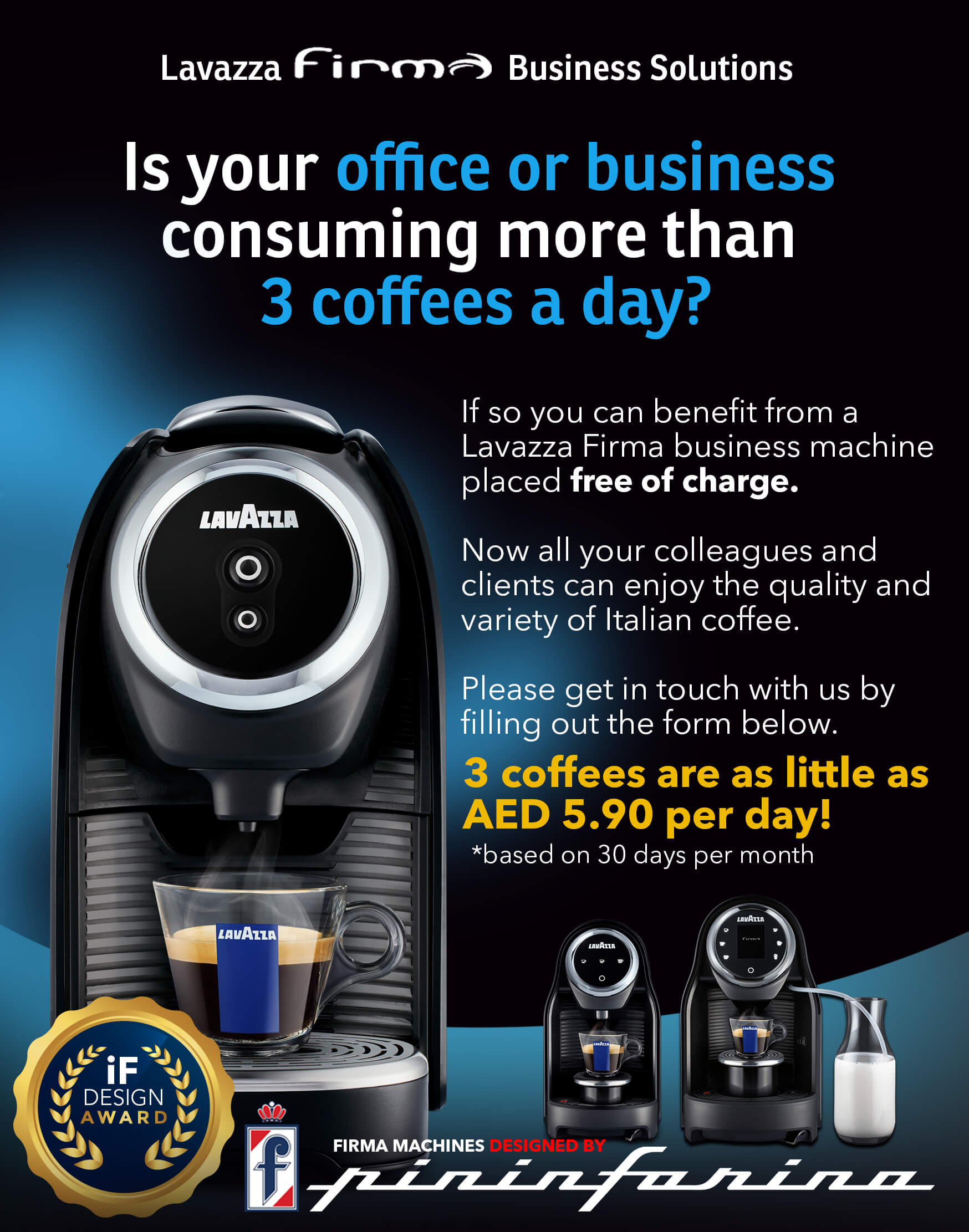Lavazza Firma Free Office Coffee Machine