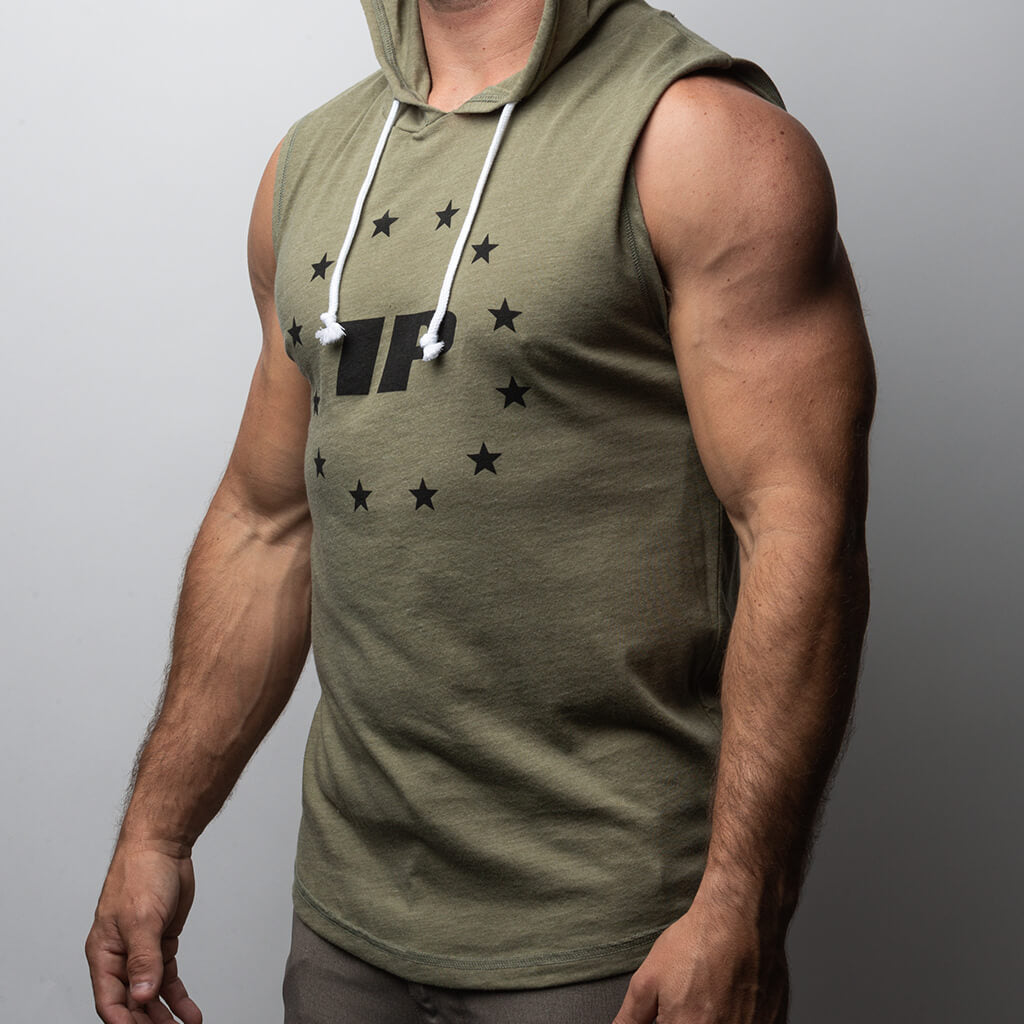 1P Star Strapped Sleeveless Hoodie