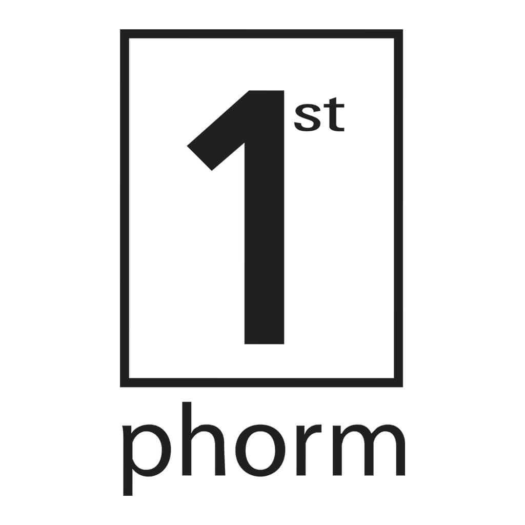"1st Phorm Decal Black (2.5"" X 4.25"")"