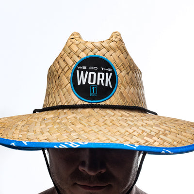 We Do The Work Tropical Straw Hat