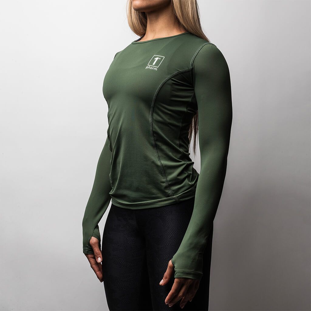 Women's Surge Gen 1P Long Sleeve Top - Army