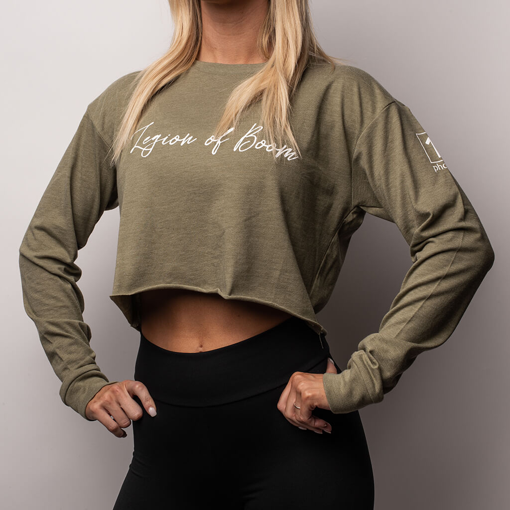 Women's LOB Script Crop Long Sleeve